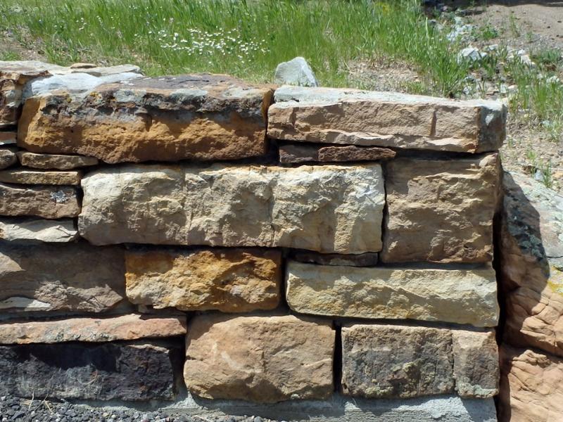 Custom Cut Dry Stack Stone Wall