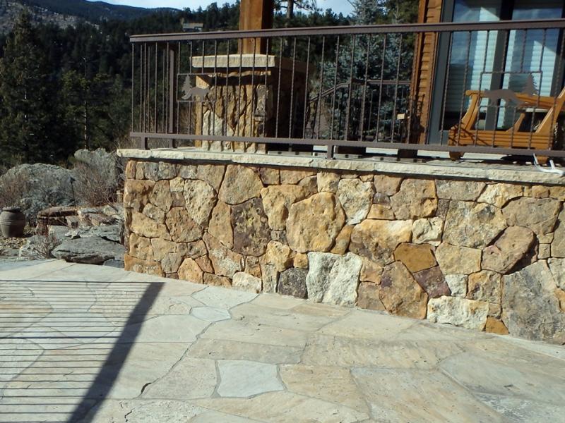 Custom Cut Facing Stone Facade